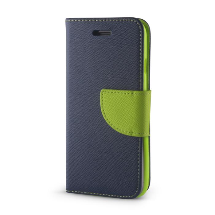 Huawei P20 Lite okos díszes tok navy kék-zöld