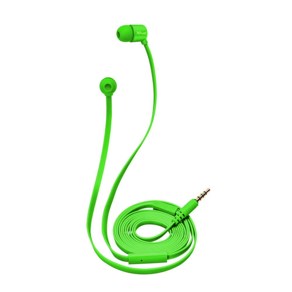 Trust Duga fülhallgató neon zöld