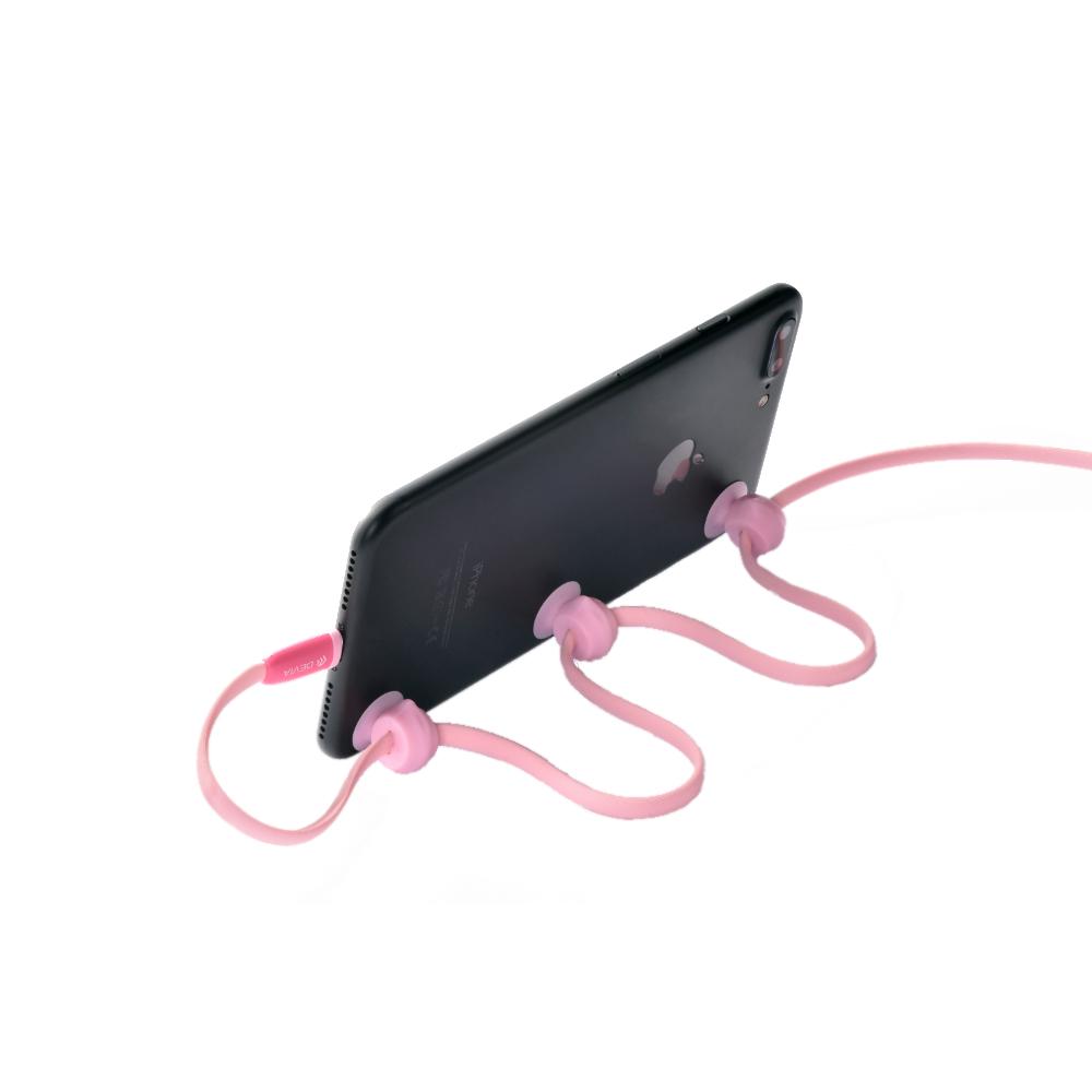 Devia Mini Pig kábel iPhone-hoz, rózsaszín