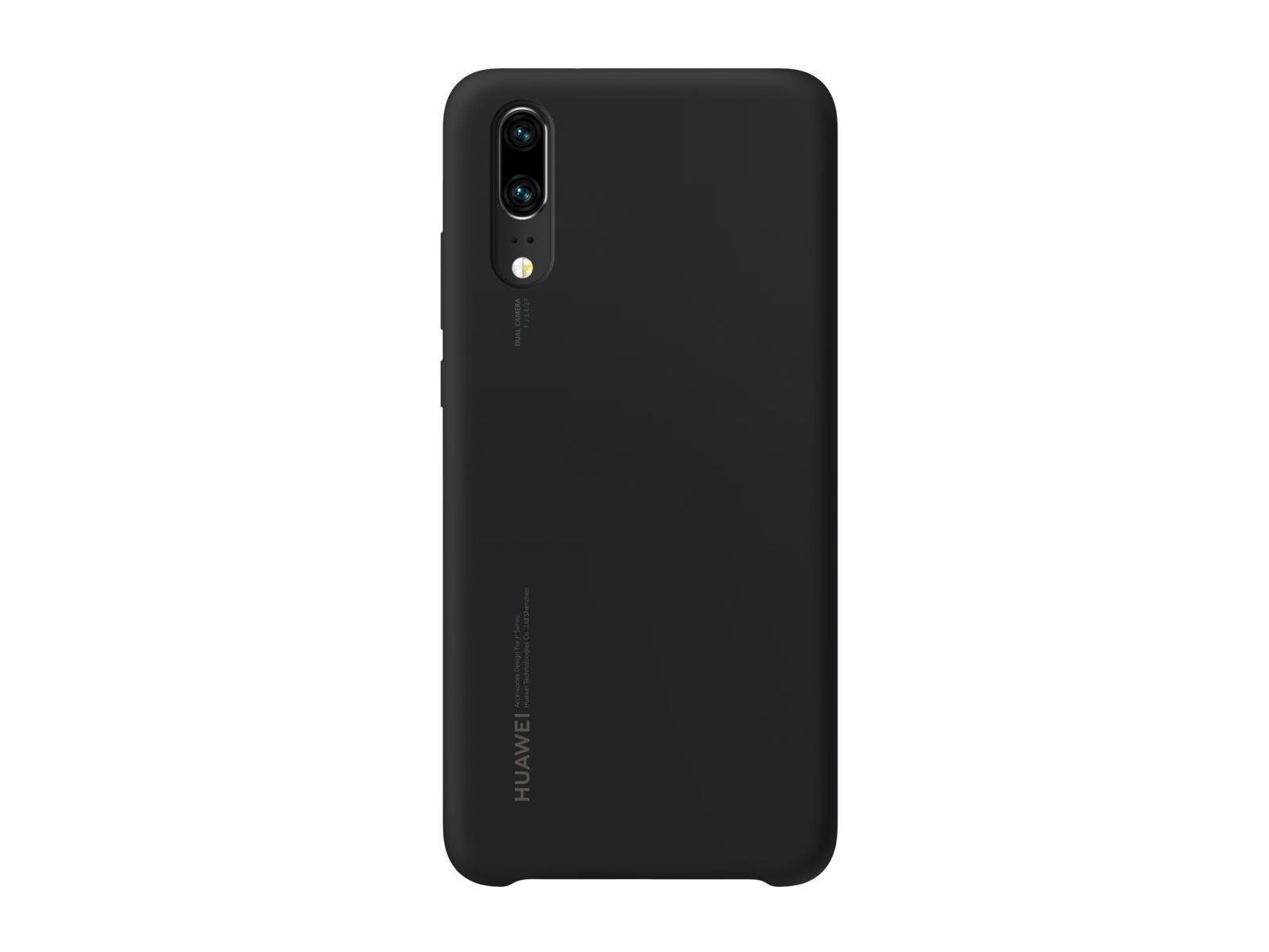 Huawei P20 szilikon tok, fekete
