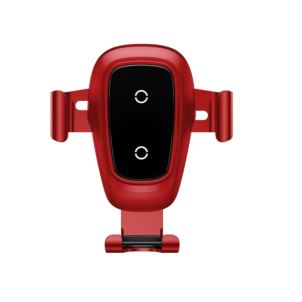 Baseus car mount gravity Metal with wireless charging function red