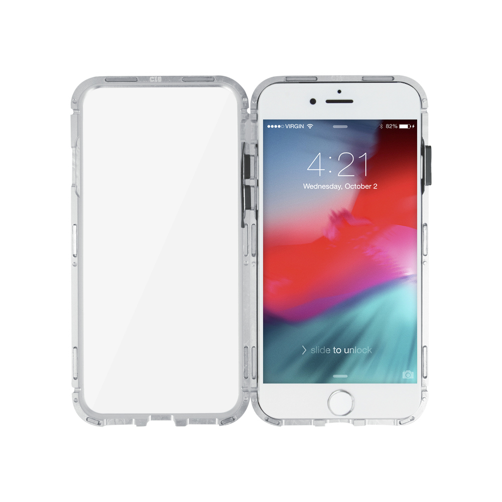 premium selection 7a16e 57d8d Magnetic Full Glass case for iPhone 6 / iPhone 6s silver