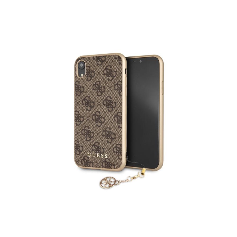 Guess iPhone XR GUHCI61GF4GBR brown hard case 4G