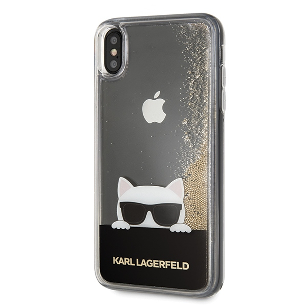 super popular 3eae6 d61e8 Karl Lagerfeld iPhone XS Max KLHCI65CHPEEGO gold hard case ...