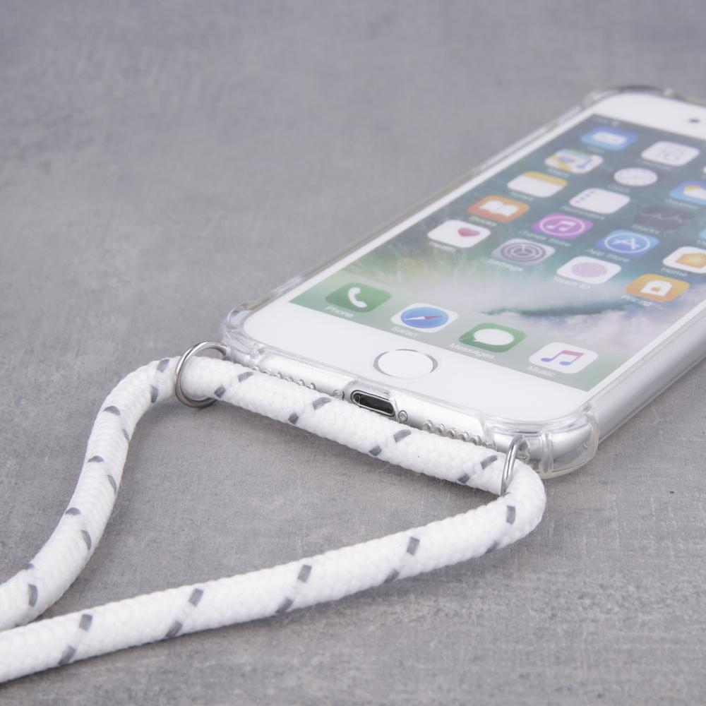 Neck strap tpu case for Samsung A50 white
