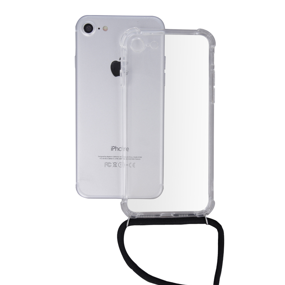 Neck strap tpu case for Samsung S10 black