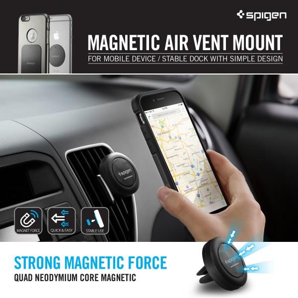 newest 8ba4b 97bfc SPIGEN Air Vent Magnetic Universal Car Mount Holder