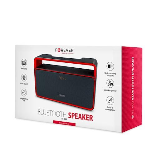 Forever bluetooth speaker BS-600 black-red
