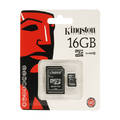 Karta pamięci Kingston microSDHC 16 GB z adapterem 10 klasa