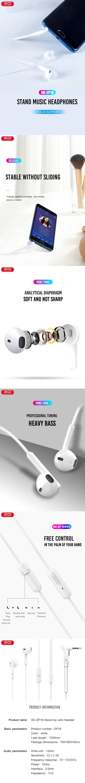 XO Wired earphones EP18 jack 3,5mm white